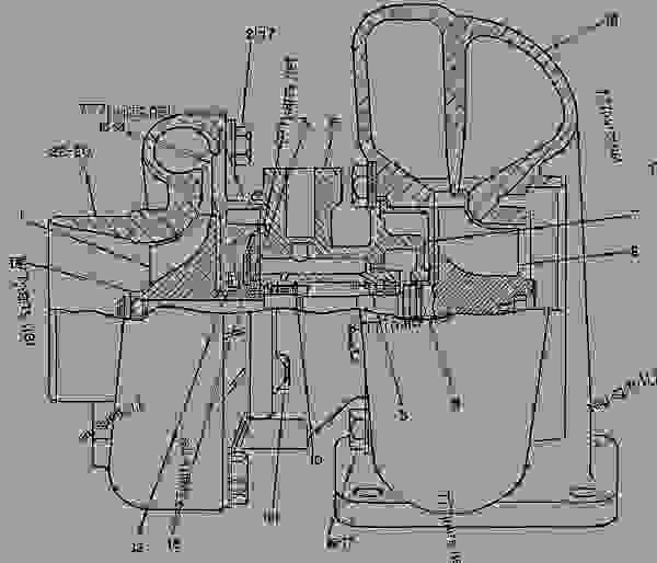 Parts scheme 7N4651 TURBOCHARGER GROUP  - ENGINE - GENERATOR SET Caterpillar 3304B - 3304B GENERATOR SET ENGINE 1YF00001-UP AIR INLET AND EXHAUST SYSTEM | 777parts