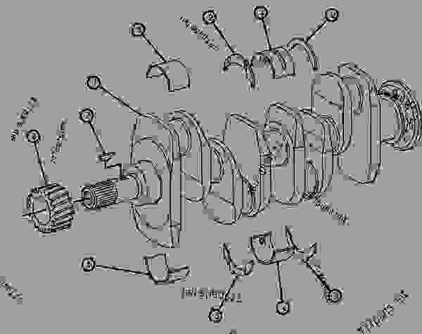 Parts scheme 2W6833 CRANKSHAFT GROUP  - COLD PLANER Caterpillar PR-75 - 4.236 DIESEL ENGINE /FOR PR-75 PAVEMENT P/ 6BD00001-UP (MACHINE) ENGINE | 777parts