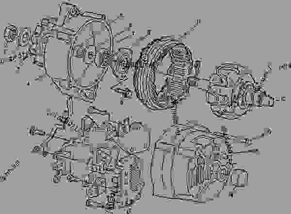Parts scheme 6T1194 ALTERNATOR GROUP-CHARGING  - ASPHALT PAVER Caterpillar AP-800 - AP-800 ASPHALT PAVER 1BF00001-00224 (MACHINE) STARTING AND ELECTRICAL SYSTEM | 777parts