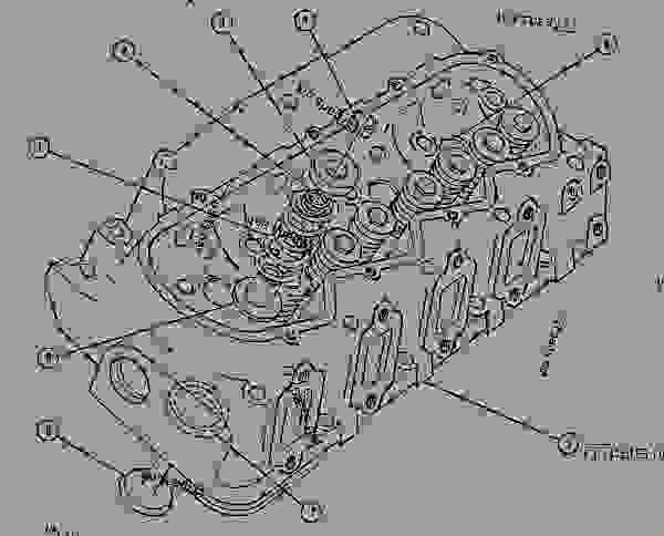 Parts scheme 1W2282 CYLINDER HEAD GROUP   - ENGINE - GENERATOR SET Caterpillar 3208 - 3208 GENERATOR SET ENGINE 30A00210-05099 BASIC ENGINE | 777parts