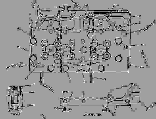 Parts scheme 4N2622 CYLINDER HEAD GROUP  - ENGINE - GENERATOR SET Caterpillar 3412 - 3412 ENGINE GENERATOR SET 81Z00001-04999 BASIC ENGINE | 777parts