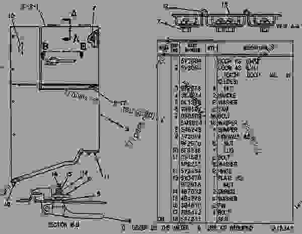 Parts scheme 9V0192 FIREWALL GROUP FIREWALL GROUP - EARTHMOVING COMPACTOR Caterpillar 816B - 816B LANDFILL COMPACTOR 15Z00001-UP (MACHINE) POWERED BY 3306 ENGINE CHASSIS | 777parts
