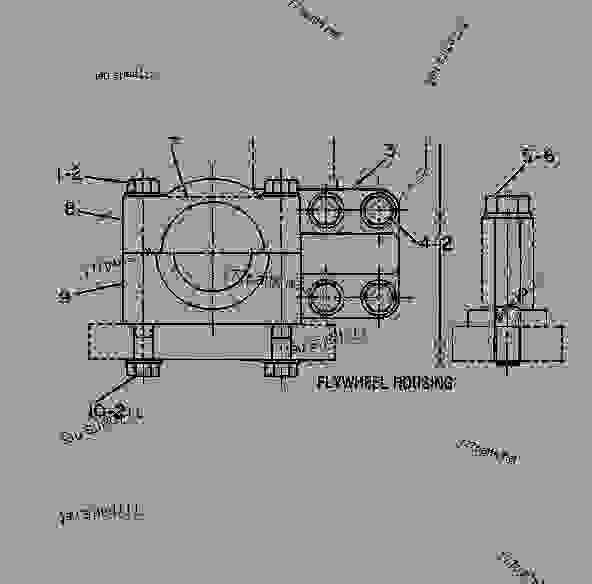 parts scheme 6n4261 mounting group-engine - track-type tractor