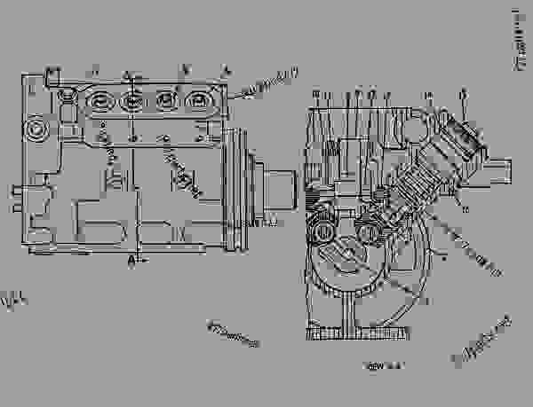 Parts scheme 7W1983 PUMP GROUP-FUEL INJECTION   - COLD PLANER Caterpillar PR-450 - PR-450 COLD PLANER 7DC00204-UP (MACHINE) POWERED BY 3408 ENGINE FUEL SYSTEM AND GOVERNOR | 777parts