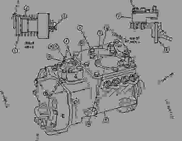 Parts scheme 4W5639 PUMP GROUP-GOV & FUEL INJ   - ENGINE - GENERATOR SET Caterpillar 3208 - 3208 GENERATOR SET ENGINE 30A00210-05099 FUEL SYSTEM AND GOVERNOR | 777parts