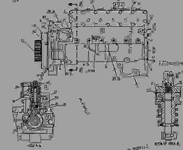 Parts scheme 4W2549 PUMP GROUP-FUEL INJECTION  - EARTHMOVING COMPACTOR Caterpillar 825 - 825C COMPACTOR 86X00001-00730 (MACHINE) POWERED BY 3406 ENGINE FUEL SYSTEM AND GOVERNOR | 777parts