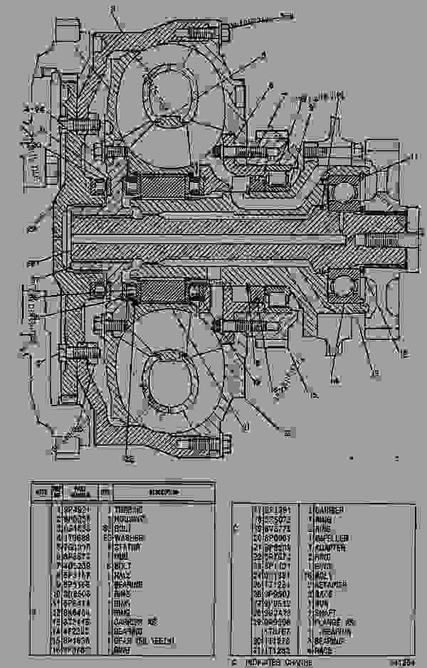 Parts scheme 8P1674 TORQUE CONVERTER GROUP  - EARTHMOVING COMPACTOR Caterpillar 816B - 816B LANDFILL COMPACTOR 15Z00001-UP (MACHINE) POWERED BY 3306 ENGINE POWER TRAIN-POWER TRANSMISSION UNIT | 777parts