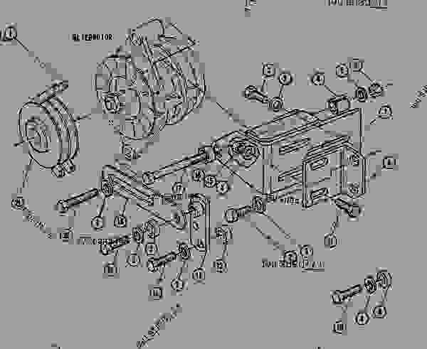 Parts scheme 7C1214 MOUNTING GROUP-ALTERNATOR MOUNTING GROUP-ALTERNATOR - ASPHALT PAVER Caterpillar AP-1200 - AP-1200 ASPHALT PAVER 2JD00001-UP (MACHINE) POWERED BY 6.354 ENGINE STARTING AND ELECTRICAL SYSTEM | 777parts