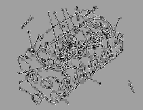 Parts scheme 9N6620 CYLINDER HEAD GROUP   - ENGINE - GENERATOR SET Caterpillar 3208 - 3208 GENERATOR SET ENGINE 30A00210-05099 BASIC ENGINE | 777parts
