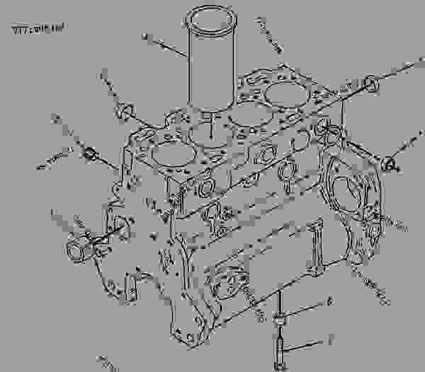 Parts scheme 7C6070 CYLINDER BLOCK AS   - BACKHOE LOADER Caterpillar 438 - 438 BACKHOE LOADER 3DJ00001-00827 (MACHINE) POWERED BY 4.236 DIESEL ENGINE BASIC ENGINE | 777parts