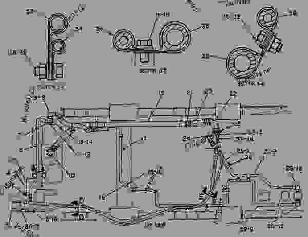 Parts scheme 3W5080  LINES GROUP-HYDRAULIC   - CHALLENGER Caterpillar 65B - CHALLENGER 65 7YC00001-01899 (MACHINE) HYDRAULIC SYSTEM | 777parts