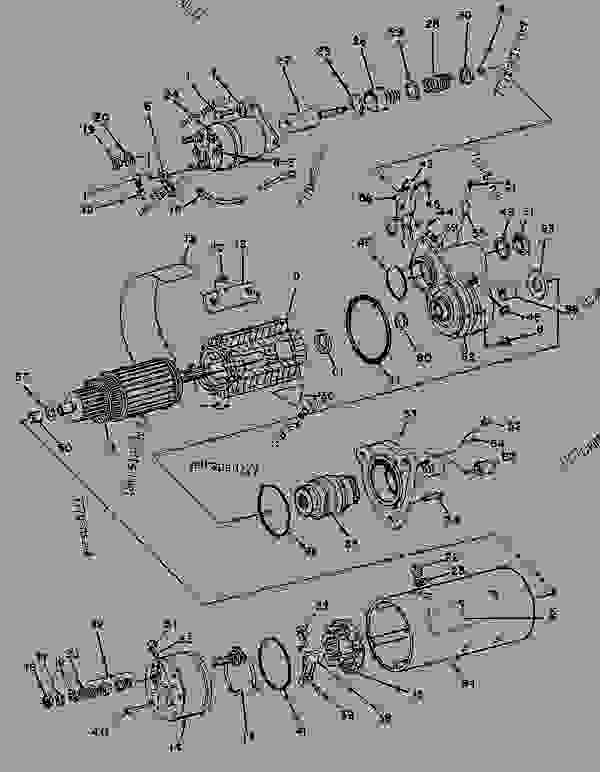 Parts scheme 8C3647 STARTING MOTOR GROUP STARTING MOTOR GROUP-ELECTRIC - ENGINE - GENERATOR SET Caterpillar 3304B - 3304 GENERATOR SET ENGINE 3TC00001-UP STARTING AND ELECTRICAL SYSTEM | 777parts