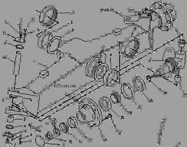 Caterpillar Backhoe Parts Diagram : R axle group front backhoe loader caterpillar