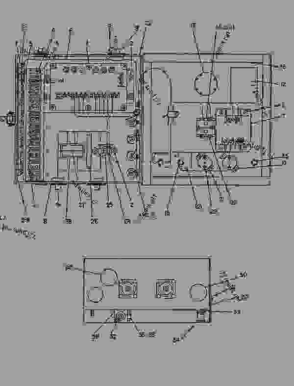 Parts scheme 4W9601 JUNCTION BOX GROUP  - ENGINE - GENERATOR SET Caterpillar 3304B - 3304 GENERATOR SET ENGINE 3TC00001-UP STARTING AND ELECTRICAL SYSTEM | 777parts