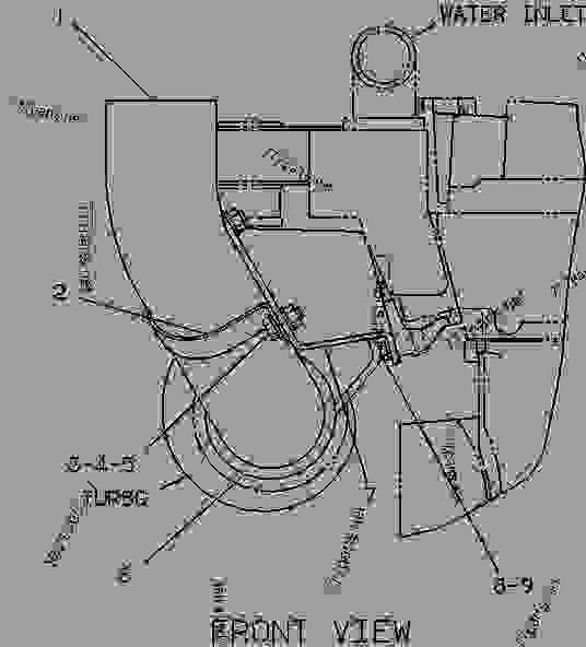 Parts scheme 9Y4918 ELBOW GROUP-EXHAUST  - ENGINE - GENERATOR SET Caterpillar 3116 - 3116 GENERATOR SET ENGINE 1NJ00001-UP INTAKE AND EXHAUST SYSTEM | 777parts