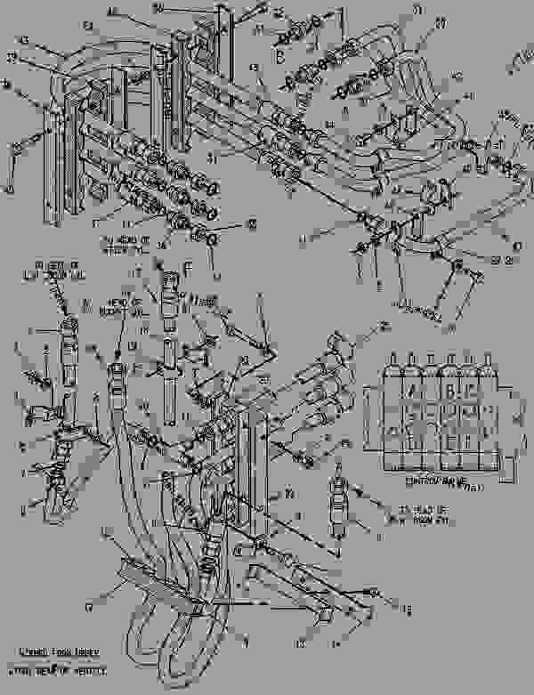 Parts scheme 9R1563 LINES GROUP-HYDRAULIC  - BACKHOE LOADER Caterpillar 428 - 428 BACKHOE LOADER 6TC00001-02693 (MACHINE) HYDRAULICS | 777parts