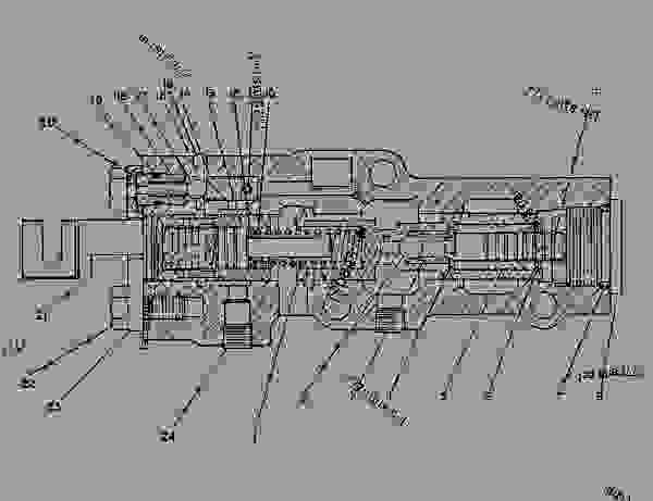 Parts scheme 6Y0185  VALVE GROUP-MODULATING   - CHALLENGER Caterpillar 75C - CHALLENGER 75C 4KK00001-00999 (MACHINE) POWERED BY 3176 ENGINE TRANSMISSION | 777parts