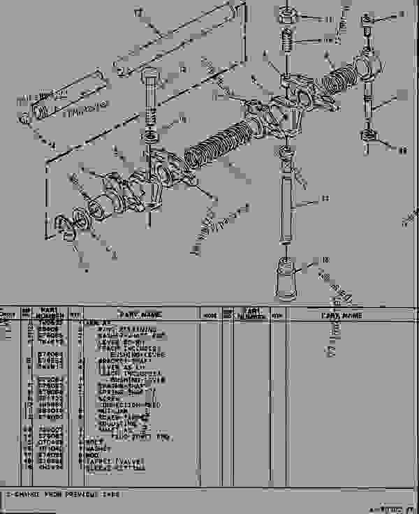 Parts scheme 7W6204 VALVE MECHANISM GROUP  - TELEHANDLER Caterpillar RT50SA - RT50, RT50 SA, RTC60, RT60 TELESCOPIC MATERIALS HANDLER 8DJ00001-UP (MACHINE) POWERED BY 4.236 DIESEL ENGINE BASIC ENGINE | 777parts