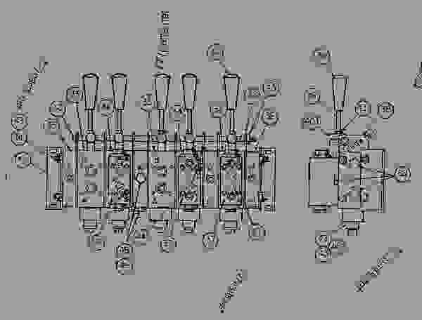 Parts scheme 0822728 VALVE AS (HYDRAULIC) - COLD PLANER Caterpillar PR-450 - PR-450 COLD PLANER 7DC00204-UP (MACHINE) POWERED BY 3408 ENGINE HYDRAULIC SYSTEM | 777parts