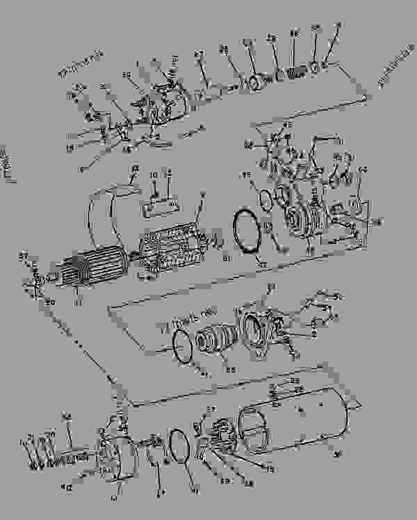 Parts scheme 8C3592 STARTING MOTOR GROUP-ELECTRIC   - CHALLENGER Caterpillar 75 - CHALLENGER 75 / POWER SHIFT / 4CJ00001-UP (MACHINE) POWERED BY 3176 ENGINE ELECTRICAL SYSTEM | 777parts