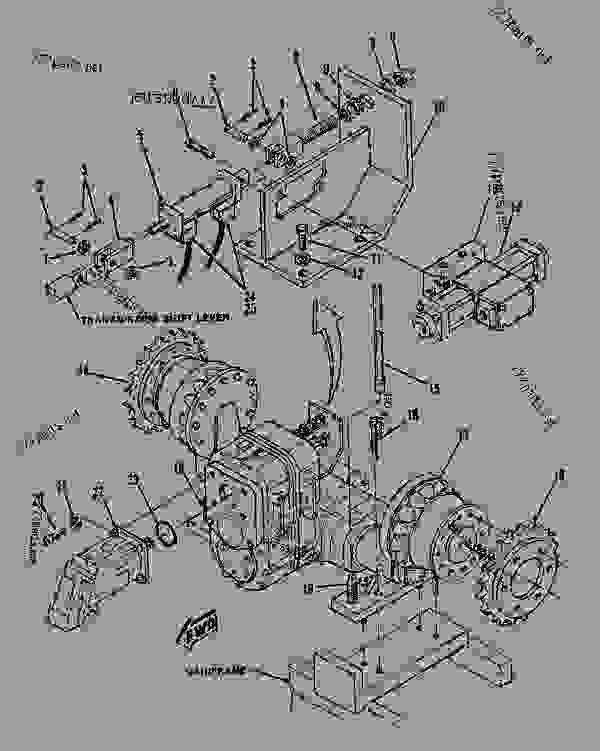 Parts scheme 0819508 TRANSMISSION & AXLE AS  - ASPHALT PAVER Caterpillar AP-800B - AP-800 ASPHALT PAVER 1BF00001-00224 (MACHINE) POWER TRAIN | 777parts