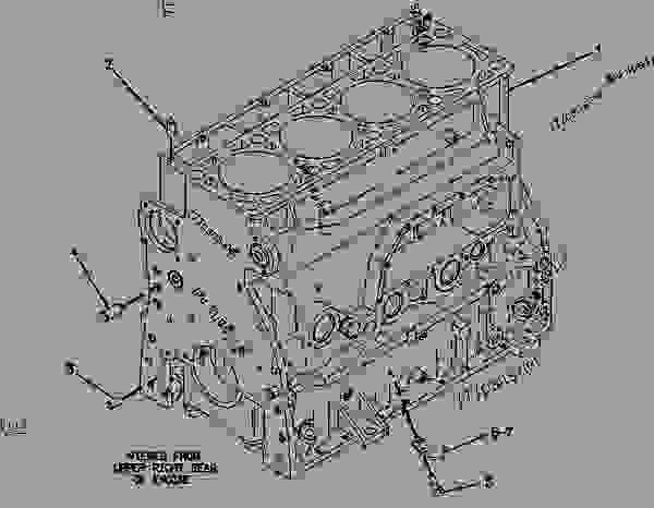 Parts scheme 4W3724 CYLINDER BLOCK GROUP CYLINDER BLOCK GROUP - BACKHOE LOADER Caterpillar 446 - 446 BACKHOE LOADER 6XF00001-UP (MACHINE) POWERED BY 3114 ENGINE BASIC ENGINE | 777parts
