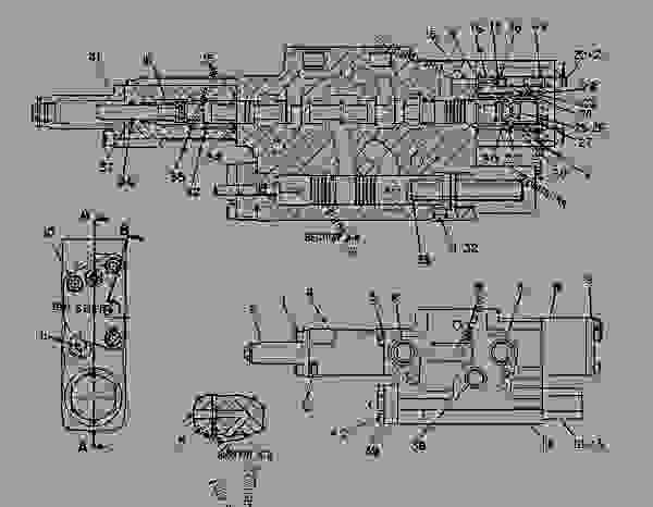 Parts scheme 6E0385  VALVE GROUP-CONTROL   - CHALLENGER Caterpillar 75 - CHALLENGER 75 / POWER SHIFT / 4CJ00001-UP (MACHINE) POWERED BY 3176 ENGINE HYDRAULIC SYSTEM | 777parts