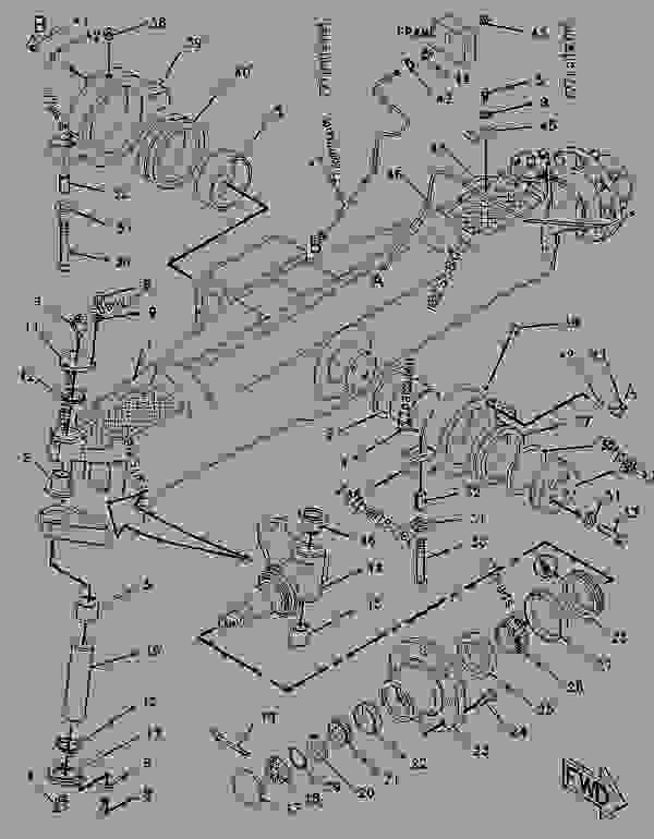 Parts scheme 9R1310 AXLE GROUP-FRONT   - BACKHOE LOADER Caterpillar 446 - 446 BACKHOE LOADER 6XF00001-UP (MACHINE) POWERED BY 3114 ENGINE STEERING | 777parts