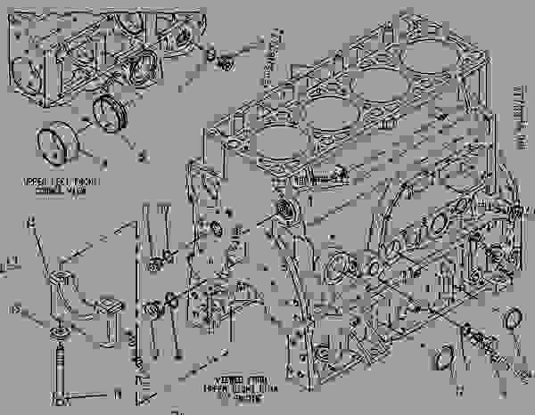 Parts scheme 7E5311 CYLINDER BLOCK GROUP   - ENGINE - GENERATOR SET Caterpillar 3114 - 3114 GENERATOR SET ENGINE 5JG00001-UP BASIC ENGINE | 777parts