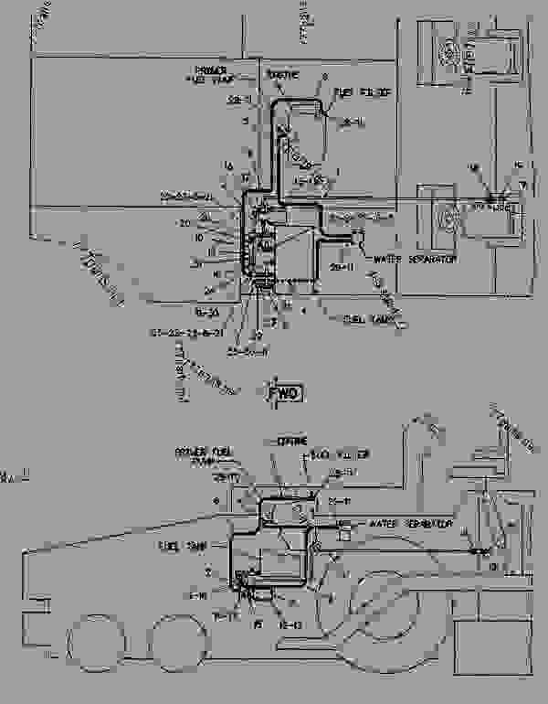 Parts scheme 0819662 FUEL SYSTEM AS  - ASPHALT PAVER Caterpillar AP-1200 - AP-1200 ASPHALT PAVER 2JD00001-UP (MACHINE) POWERED BY 6.354 ENGINE FUEL SYSTEM AND GOVERNOR | 777parts