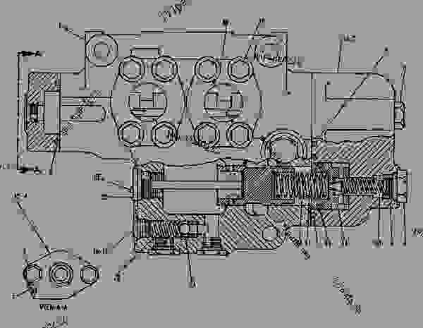 Parts scheme 1U2230 VALVE GROUP-STEERING   - EARTHMOVING COMPACTOR Caterpillar 816B - 816B LANDFILL COMPACTOR 15Z00001-UP (MACHINE) POWERED BY 3306 ENGINE STEERING AND BRAKING SYSTEM | 777parts
