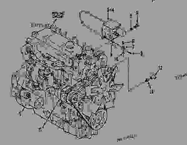 Parts scheme 7X8370 ENGINE GROUP  - ASPHALT PAVER Caterpillar 10 FT - AP-800B ASPHALT PAVER 1BF00225-UP (MACHINE) POWERED BY 4.236 ENGINE BASIC ENGINE | 777parts