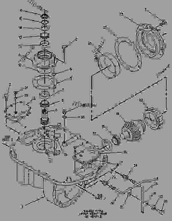 Parts scheme 7T7927 PLANETARY GROUP-DIFFERENTIAL STER  - CHALLENGER Caterpillar 75 - CHALLENGER 75 / POWER SHIFT / 4CJ00001-UP (MACHINE) POWERED BY 3176 ENGINE DIFFERENTIAL STEERING SYSTEM | 777parts