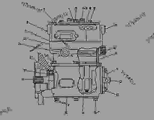 Parts scheme 1W7146 AIR COMPRESSOR GROUP  - EARTHMOVING COMPACTOR Caterpillar 816B - 816B LANDFILL COMPACTOR 15Z00001-UP (MACHINE) POWERED BY 3306 ENGINE AIR INLET AND EXHAUST SYSTEM | 777parts