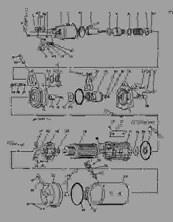 Parts scheme 9X3416 STARTING MOTOR GROUP-ELECTRIC   - ENGINE - GENERATOR SET Caterpillar 3116 - 3116 GENERATOR SET ENGINE 2SG00001-UP STARTING AND ELECTRICAL SYSTEM | 777parts