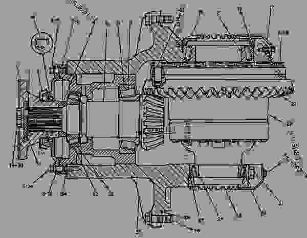Parts scheme 3V6591 DIFFERENTIAL & BEVEL GEAR GROUP   - EARTHMOVING COMPACTOR Caterpillar 825C - 825C COMPACTOR 86X00001-00730 (MACHINE) POWERED BY 3406 ENGINE POWER TRAIN-POWER TRANSMISSION UNIT | 777parts