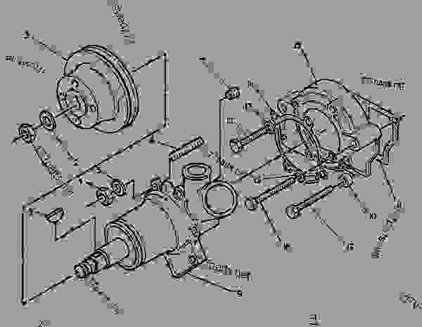 Parts scheme 2W2559 PUMP GROUP-WATER  - EXCAVATOR Caterpillar 212 - 4.236 PERKINS DIESEL ENGINE FOR 211 AND 212 EXCAVATORS 5DC00001-UP (MACHINE) ENGINE | 777parts