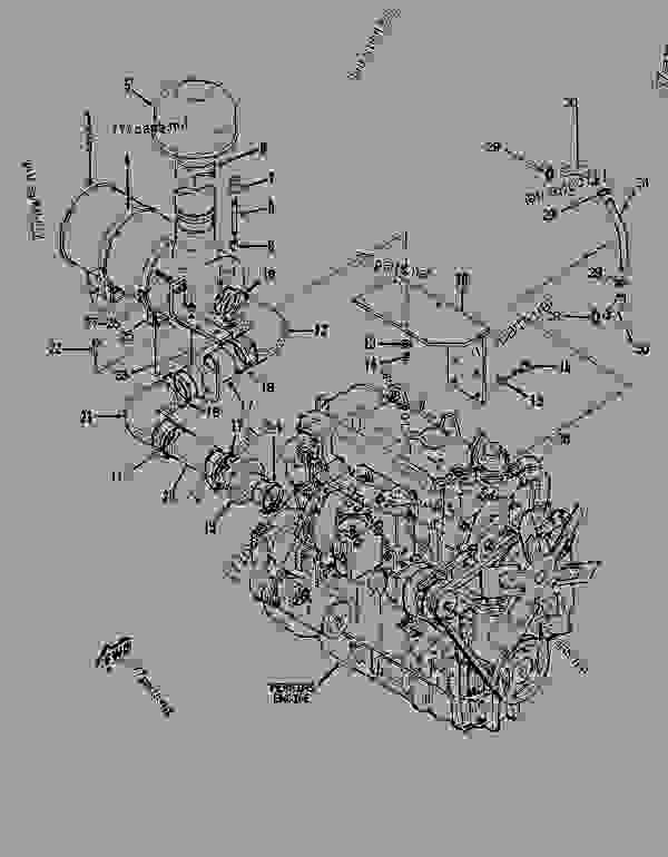 Parts scheme 7X8370 ENGINE GROUP  - ASPHALT PAVER Caterpillar 8 FT - AP-800B ASPHALT PAVER 1BF00225-UP (MACHINE) POWERED BY 4.236 ENGINE BASIC ENGINE | 777parts