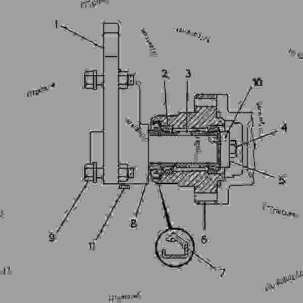 Parts scheme 7E7679 DRIVE GROUP-FAN   - CHALLENGER Caterpillar 75C - CHALLENGER 75C 4KK00001-00999 (MACHINE) POWERED BY 3176 ENGINE BASIC ENGINE | 777parts