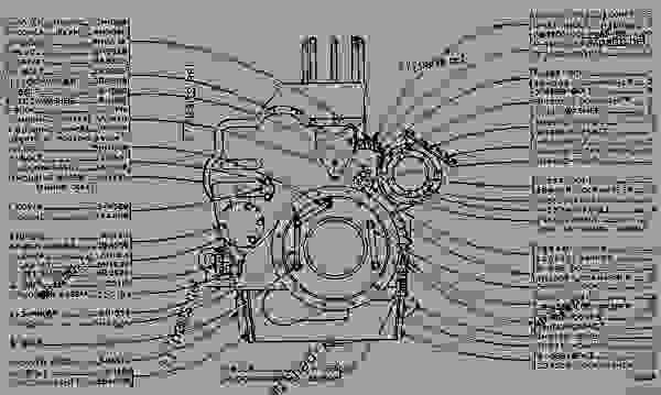CYLINDER BLOCK AND COVERS - ENGINE - MARINE Caterpillar D342 - D342 ...