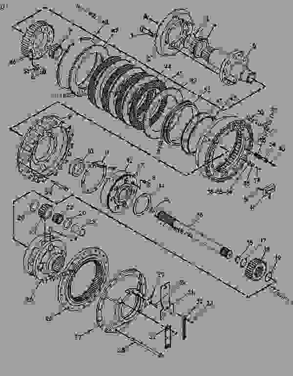 Parts scheme 8E7805 PLANETARY GROUP-DIFFERENTIAL STER   - CHALLENGER Caterpillar 75C - CHALLENGER 75C 4KK00001-00999 (MACHINE) POWERED BY 3176 ENGINE DIFFERENTIAL STEERING SYSTEM | 777parts