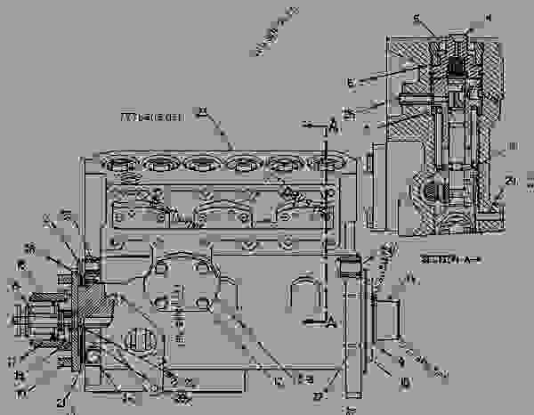 Parts scheme 6I2832  PUMP GROUP-FUEL INJECTION   - ENGINE - GENERATOR SET Caterpillar 3306B - 3306B GENERATOR SET ENGINE 2AJ00001-UP FUEL SYSTEM AND GOVERNOR | 777parts