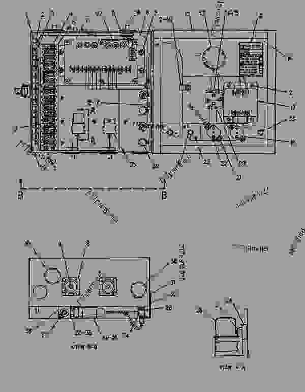 Parts scheme 4W9601 JUNCTION BOX GROUP  - ENGINE - GENERATOR SET Caterpillar 3304B - 3304 GENERATOR SET ENGINE 83Z00001-03095 STARTING AND ELECTRICAL SYSTEM | 777parts