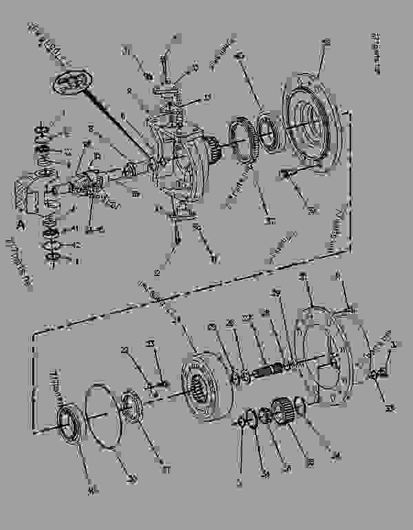 Parts scheme 9R8557  AXLE AS-DRIVE & STEERING  -FRONT - BACKHOE LOADER Caterpillar 436B - 436B BACKHOE LOADER 6MJ00001-UP (MACHINE) POWERED BY 3054 ENGINE STEERING SYSTEM | 777parts