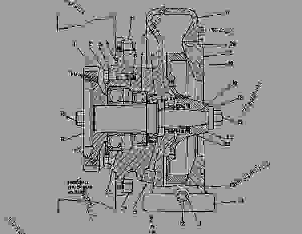 Parts scheme 4N7498 PUMP GROUP-WATER PUMP GP-WATER (4N1951 N/S) - COLD PLANER Caterpillar PR-450 - PR-450 COLD PLANER 7DC00204-UP (MACHINE) POWERED BY 3408 ENGINE COOLING SYSTEM | 777parts