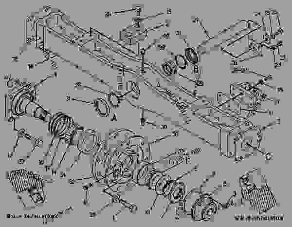 Parts scheme 3W5061  AXLE GROUP-FRONT   - CHALLENGER Caterpillar 65 - CHALLENGER 65 7YC00001-01899 (MACHINE) FRAME AND BODY | 777parts
