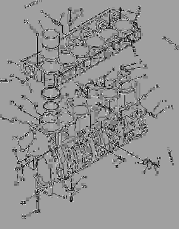 Parts scheme 4P9140 CYLINDER BLOCK GROUP   - CHALLENGER Caterpillar 75 - CHALLENGER 75 / POWER SHIFT / 4CJ00001-UP (MACHINE) POWERED BY 3176 ENGINE BASIC ENGINE | 777parts