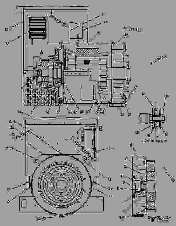 Parts scheme 6I0053 GENERATOR GROUP   - ENGINE - GENERATOR SET Caterpillar 3208 - 3208 GENERATOR SET ENGINE 29A00225-UP GENERATORS | 777parts