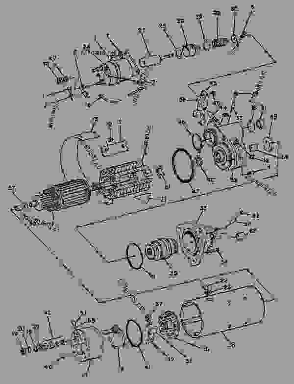 Parts scheme 8C3597 STARTING MOTOR GROUP   - ENGINE - GENERATOR SET Caterpillar 3304B - 3304 GENERATOR SET ENGINE 83Z00001-03095 STARTING AND ELECTRICAL SYSTEM | 777parts