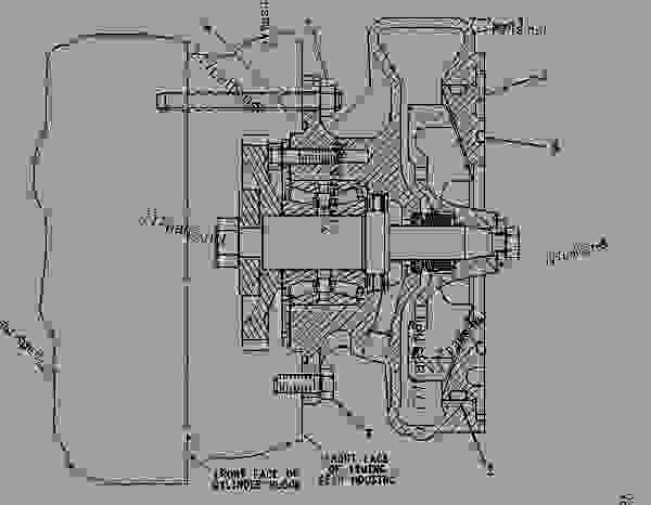Parts scheme 4N1951 PUMP GROUP-WATER WATER PUMP GROUP - ENGINE - GENERATOR SET Caterpillar 3408B - 3408B GENERATOR SET ENGINE 2BG00001-UP COOLING SYSTEM | 777parts
